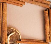 老纸的食谱和香料 — 图库照片