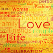Seamless pattern with word love — Foto de Stock