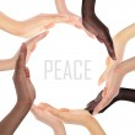 Conceptual symbol of multiracial human hands making a circle — Stock Photo #37524821