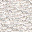Stock Photo: Coffee words background