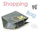 Beatiful shopping bag — Stock Photo