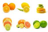 Zbiór owoców na białym tle — Zdjęcie stockowe