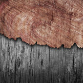 Cracked wood board — Stock Photo
