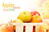 Fresh and colorful apples — Stock Photo