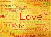 Wzór z słowo miłość — Zdjęcie stockowe