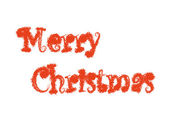 Merry christmas words on white background — Stock Photo