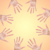 Circle made of hands — Stock Photo