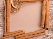 Papel velho com ingredientes — Fotografia Stock