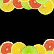 Abstract background of citrus slices — Stock Photo #37532205