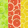 Stock Photo: Abstract background of citrus slices