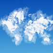 World map shaped by clouds — Stock Photo #37533151