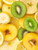 切片水果背景 — 图库照片