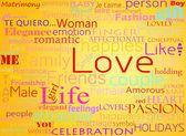 Naadloze patroon met woord liefde — Stockfoto