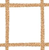 Frame composed of rope isolated on white — Stock Photo