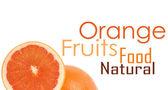 One and half oranges — Stock Photo