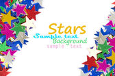 Colored stars background for your text on photo, and other. — 图库照片