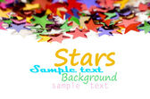 Colored stars background for your text on photo, and other. — Photo