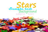 Colored stars background for your text on photo, and other. — Stok fotoğraf