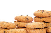 çikolatalı kurabiye yığını — Stok fotoğraf