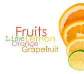 Vitamin C Overload, Stacks of sliced fruit — Stock Photo