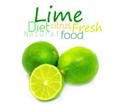 Fresh ripe lime. Isolated on white background — Stock Photo