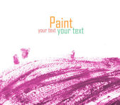 Paint brush texture watercolor spot blotch isolated — Stock Photo