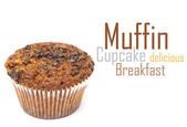Muffin on perfect white background — Stock Photo