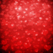 Shiny hearts bokeh light Valentine's day background — Stockfoto