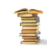 Pilha de velhos livros isolados no branco — Fotografia Stock