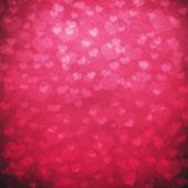 Shiny hearts bokeh light Valentine's day background — Stok fotoğraf