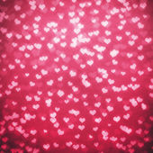 Shiny hearts bokeh light Valentine's day background — ストック写真