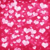 Shiny hearts bokeh light Valentine's day background — Stock Photo