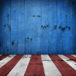 USA style background - empty wooden table for display montages — Stock Photo