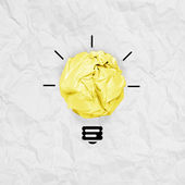 Light bulb crumpled paper as creative concept — Foto de Stock