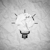 Light bulb crumpled paper as creative concept — Stock Photo