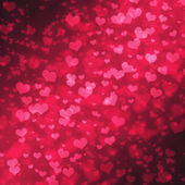 Abstract Glow Soft Hearts for Valentines Day Background Design. — 图库照片