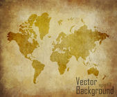 World map with track lines in vintage pattern — Stock Vector