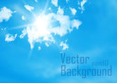 Vector sky. Blue sky with cloud closeup. — Stock Vector