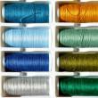 Embroidery yarn bobbins — Stock Photo #37917559