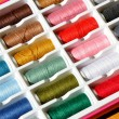Stock Photo: Embroidery yarn bobbins