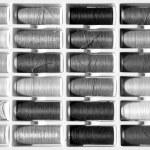 Embroidery yarn bobbins — Stock Photo #37917817