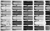 Embroidery yarn bobbins — Stock Photo