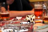 Smoking, drinking, death — Stock Photo