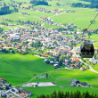 Stock Photo: Alps cableway