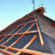 Stock Photo: Roof reconstruction