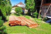Roof battens — Stock Photo
