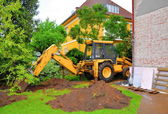 Digging excavator — Stock Photo