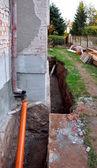 Building a sewage — Stock Photo