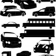 Stock Vector: Set of car vectors