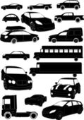Set of car vectors — Stock Vector